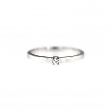 White gold engagement ring DBS01-01-11