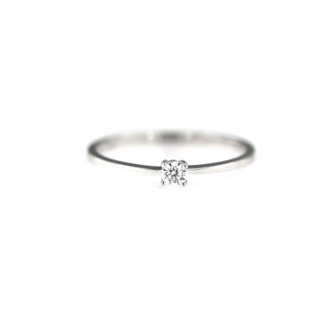 White gold engagement ring DBS01-01-14