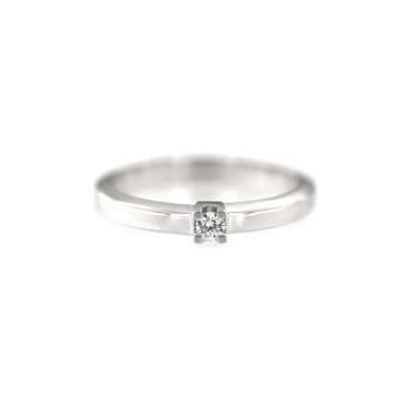 White gold engagement ring DBS01-01-12