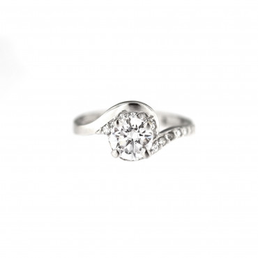 White gold engagement ring DBS04-03-03