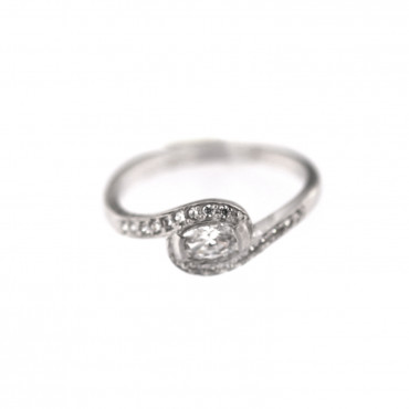 White gold engagement ring DBS04-03-01