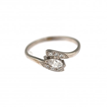White gold engagement ring DBS04-02-04