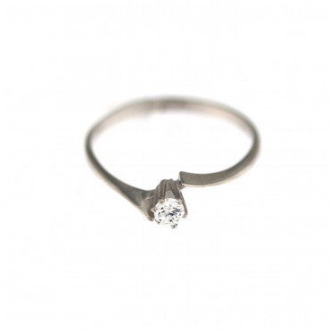 White gold engagement ring DBS04-01-09