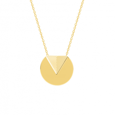 Gold plated brass pendant necklace MUR102873