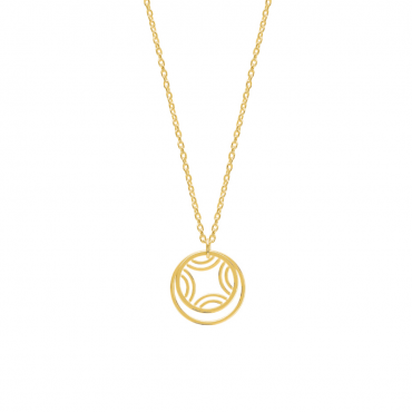 Gold plated brass pendant necklace MUR102855
