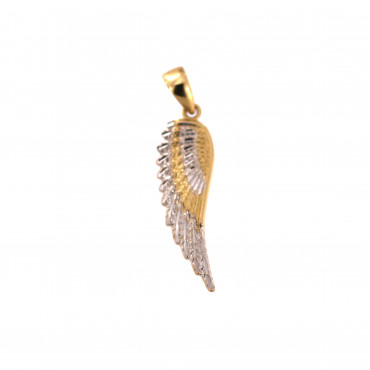 Yellow gold wing pendant AGF16-01