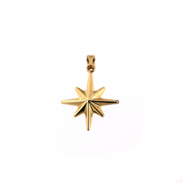 Yellow gold Northern star pendant AGF19-01