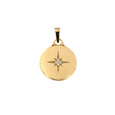 Yellow gold Northern star pendant AGF19-02