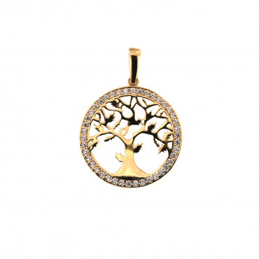 Yellow gold tree of life pendant AGT03-07