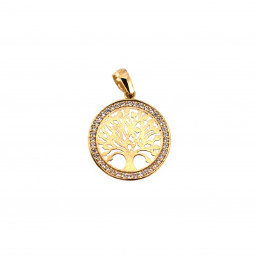 Yellow gold tree of life pendant AGT03-09