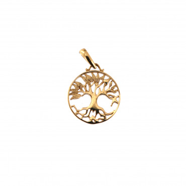 Yellow gold tree of life pendant AGT03-10