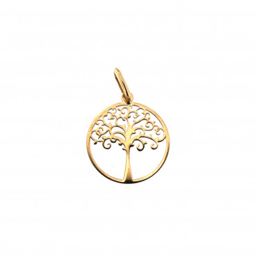 Yellow gold tree of life pendant AGT03-11