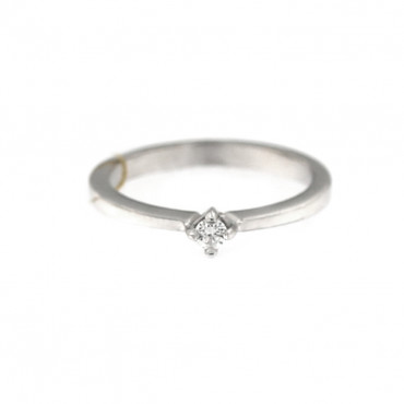 White gold engagement ring with diamond DBBR01-02