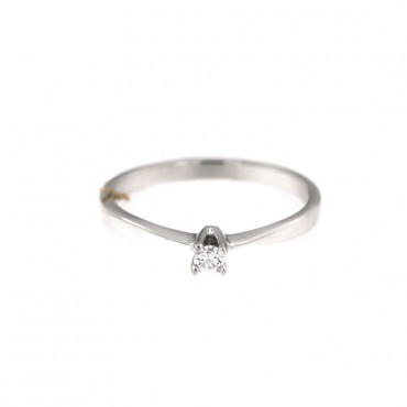 White gold engagement ring with diamond DBBR01-03