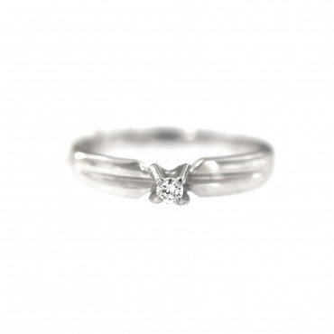 White gold engagement ring with diamond DBBR01-11