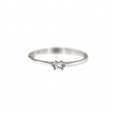 White gold engagement ring with diamond DBBR01-14