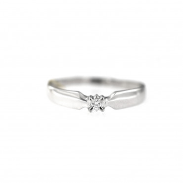 White gold engagement ring with diamond DBBR01-15