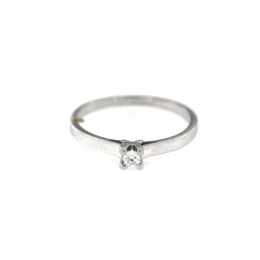 White gold engagement ring with diamond DBBR01-09
