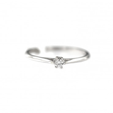 White gold engagement ring with diamond DBBR02-03