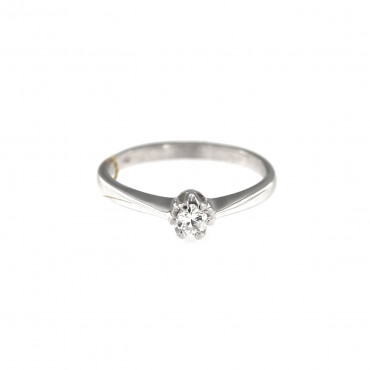 White gold engagement ring with diamond DBBR02-04