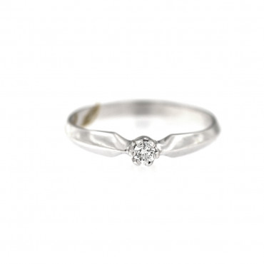 White gold engagement ring with diamond DBBR02-05