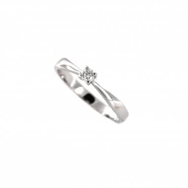 White gold engagement ring with diamond DBBR01-16