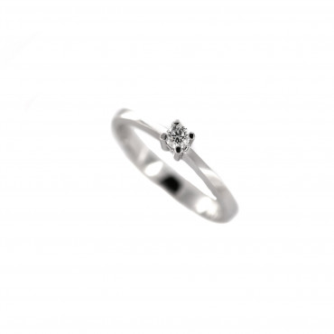 White gold engagement ring with diamond DBBR01-17