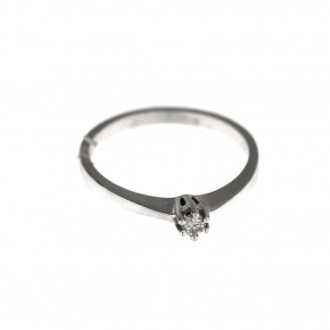 White gold engagement ring with diamond DBBR02-12