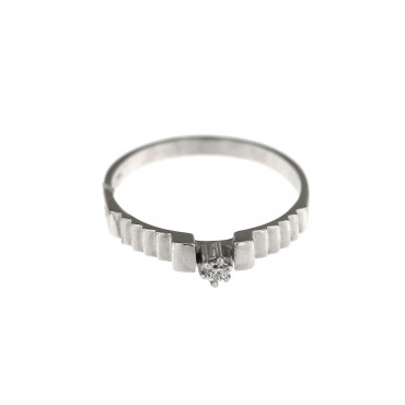 White gold engagement ring with diamond DBBR02-14