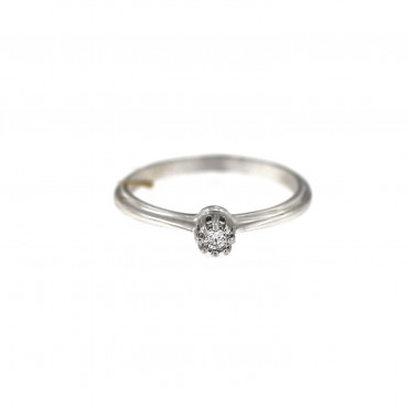 White gold engagement ring with diamond DBBR03-03