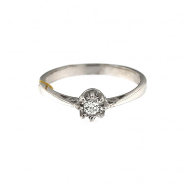 White gold engagement ring with diamond DBBR03-04
