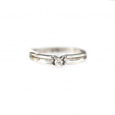 White gold engagement ring with diamond DBBR04-06