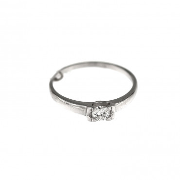 White gold engagement ring with diamond DBBR05-03