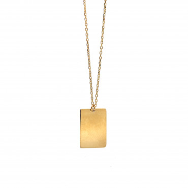Yellow gold pendant necklace CPG01-04