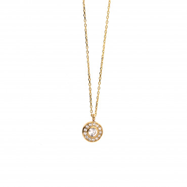 Yellow gold pendant necklace CPG02-06