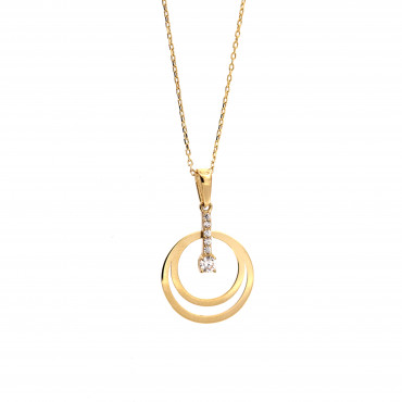 Yellow gold pendant necklace CPG02-07