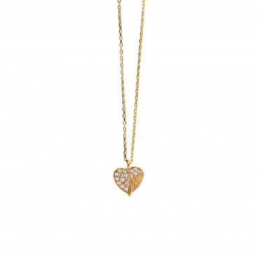Yellow gold pendant necklace CPG03-10