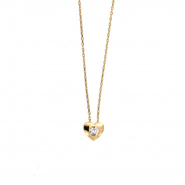 Yellow gold pendant necklace CPG03-11