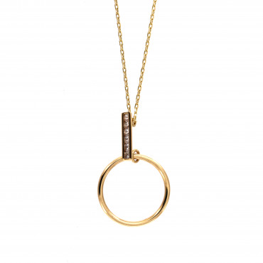 Yellow gold pendant necklace CPG02-08