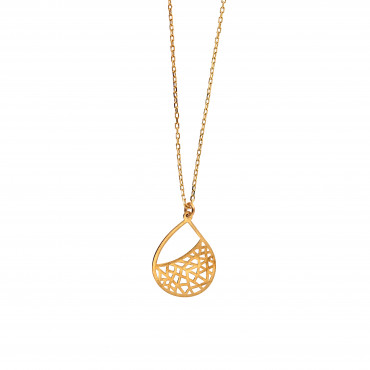 Yellow gold pendant necklace CPG06-04