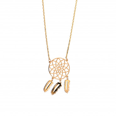 Yellow gold pendant necklace CPG09-06