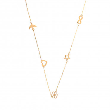 Yellow gold pendant necklace CPG10-04