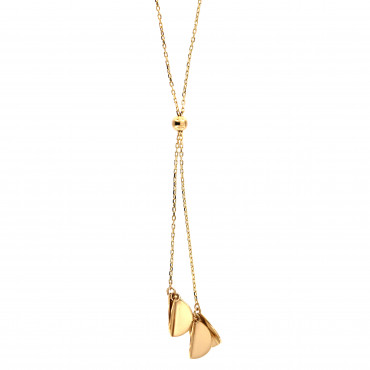 Yellow gold pendant necklace CPG11-08