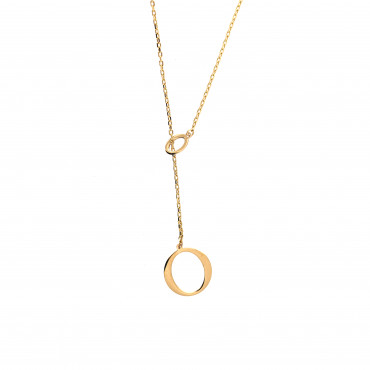 Yellow gold pendant necklace CPG11-09