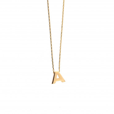 Yellow gold pendant necklace CPG12-A-03