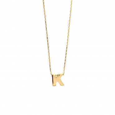 Yellow gold pendant necklace CPG12-K-01