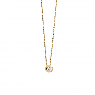 Yellow gold pendant necklace CPG13-07