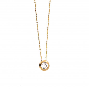 Yellow gold pendant necklace CPG13-06