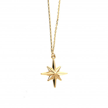 Yellow gold pendant necklace CPG16-01