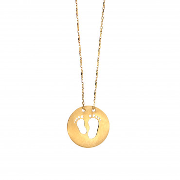 Yellow gold pendant necklace CPG17-01